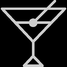 """Icona colore grigio di un """"Drink"""" raffigura che nell'hotel c'è questo servizio"""