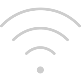 """Icona colore grigio del """"Wi-Fi"""" raffigura che l'hotel da a disposizione il servizio gratuito"""