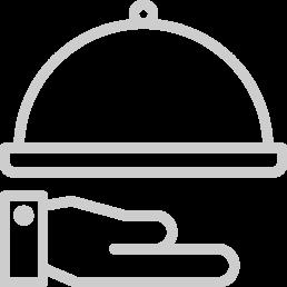 """Icona colore grigio, del """"Campanello"""" che raffigura il servizio della Reception"""